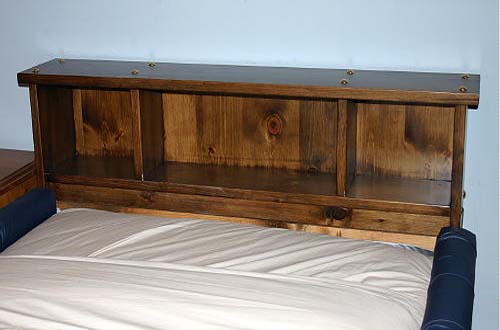 The Alpine Solid Pine Bookcase Headboard Waterbed Frame